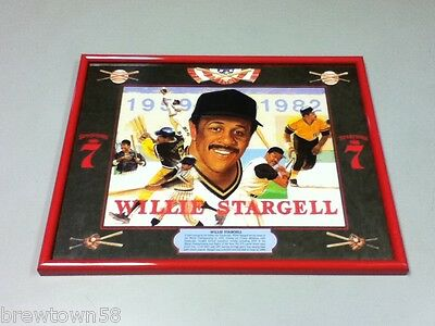 Seagram's 7 whiskey bar sign mirror Willie Stargell players baseball player AY7