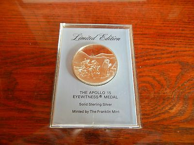 The Apollo 15 Eyewitness Medal Sterling Silver Proof Medal by the Franklin Mint