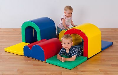 Soft Play Toddler Tunnels Trail. Select colour. (N1043)