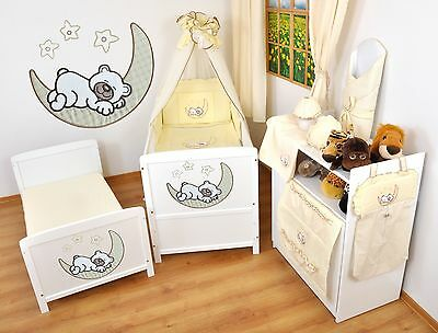 NEW WHITE 2in1 COT-BED 120 x 60 WITH A 12-PIECE BEDDING no 8 - MATTRESS FOR FREE