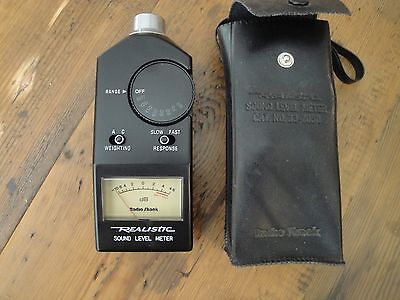 Radio Shack Realistic Sound Level Meter 33-2050 - Great shape!  NO RESERVE!