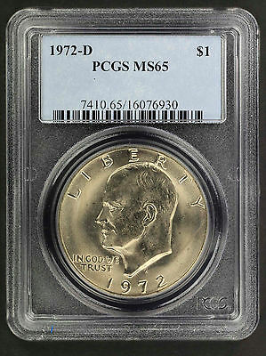 1972-D Uncirculated Eisenhower Ike Dollar PCGS MS-65 -154656