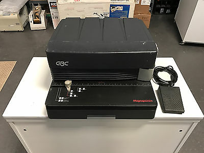GBC MagnaPunch Binding Punch w/ 4:1 Coil Die Fully Serviced & Tested