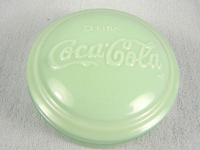 Jadeite Glass Coca Cola Covered Kitchen Dish