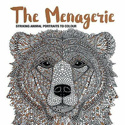 The Menagerie: Animal Portraits to Colour by Richard Merritt New Paperback Book