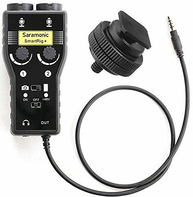 Saramonic SmartRig+ Microphone Audio Mixer + Ivation Hot Shoe Tripod Adapter