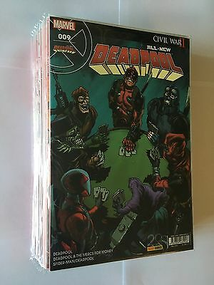 Panini Comics Marvel Lot 12 All New Deadpool N° 1 2 3 4 5 6 7 8 9 10 11 12 2017