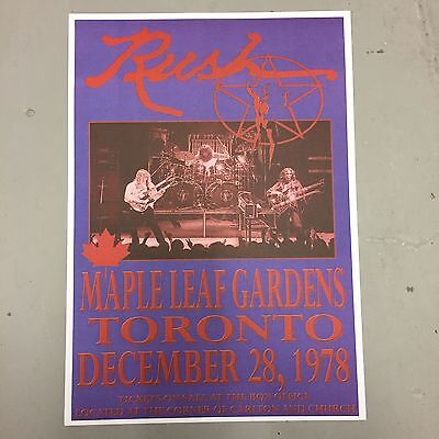 RUSH - CONCERT POSTER TORONTO 28th DECEMBER 1978 (A3 SIZE)