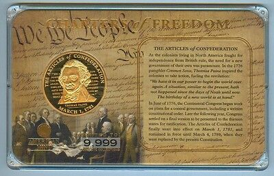 American Mint 'charters Of Freedom' Thomas Paine Medal