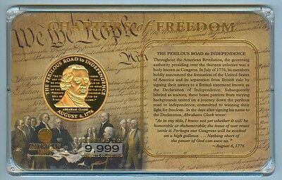 American Mint 'charters Of Freedom' Abraham Clark Medal