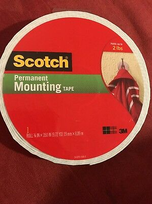 """3M Scotch Permanent Mounting Tape 110-Lng-Hand Double Sided Foam 3/4"""" x 350"""""""
