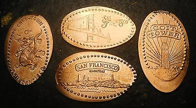 San Francisco,Ca. - Heart Of Shanghai M1 - Four Copper Elongated Pennies