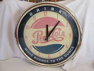 Vintage Pepsi Cola Clock - Drink - More Bounce to the Ounce  *working**