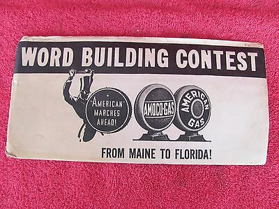 Advertising Amoco American Gas SEALED ENVELOPE Word Building Contest Book Sign