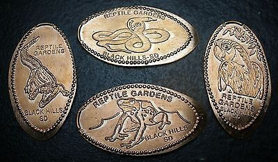 Rapid City,SD - Reptile Gardens - Four Retired Copper Elongated Pennies