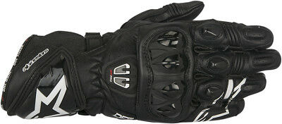 Alpinestars Mens Black GP Pro R2 Leather Motorcycle Racing Racing Riding Gloves