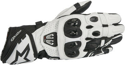 Alpinestars Mens Black/White GP Pro R2 Leather Motorcycle Racing Race Gloves
