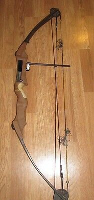 """VINTAGE BEAR WHITETAIL II COMPOUND BOW 30"""" 65LB right hand w/ soft case"""