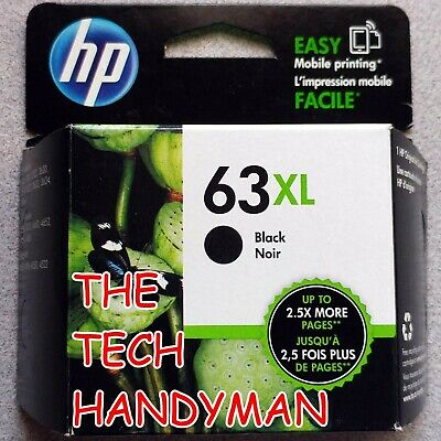 HP GENUINE 63XL Black Ink (RETAIL BOX) for the OFFICEJET 4650 4652 4654 4655