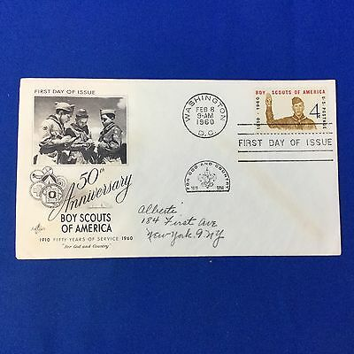 Boy Scout 50th Anniversary First Day Cover Washington DC Feb 8 1960