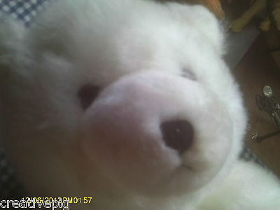 BIG White Plush Sitting Polar Bear