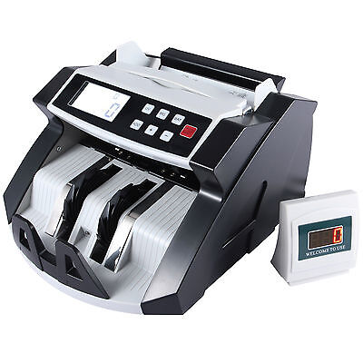 Cash Counting Machine Money Bill Counter Bank Counterfeit Detector UV & MG