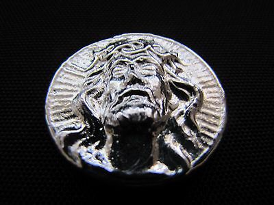 HACMint 2.4 oz JESUS High Relief Hand Poured ART BAR ROUND