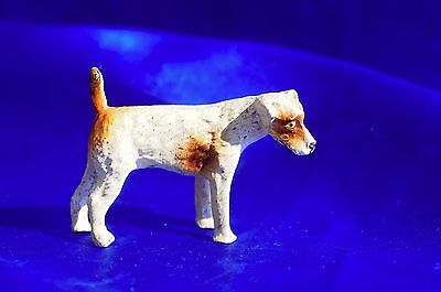 Vintage Germany dog Parsons Wire Haired fox terrier Jack russell  composition