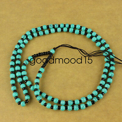 Chinese hand woven necklace Artificial Turquoise Beads pendant Accessories A5