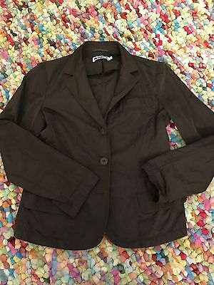 Jilsander Womens Blazer Made In Italy Silk Polyester Bland Buttons Sz 36