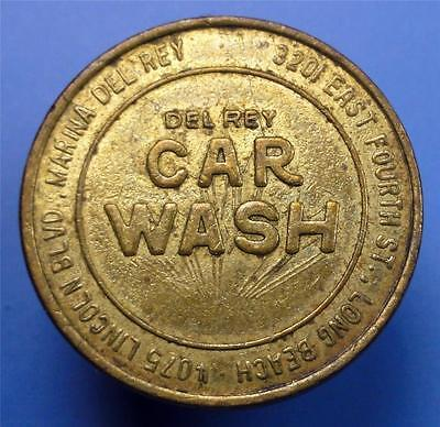 LONG BEACH CA. MARINA DEL REY Car Wash Trade Token 23mm ME3959