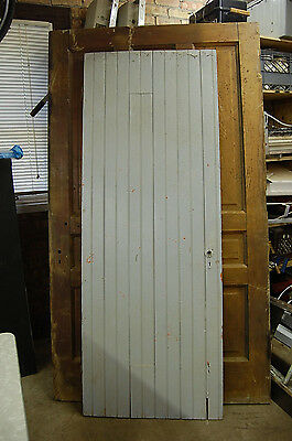 Vintage Wood Shed/Barn Door Architectural Salvage with Z style bracing