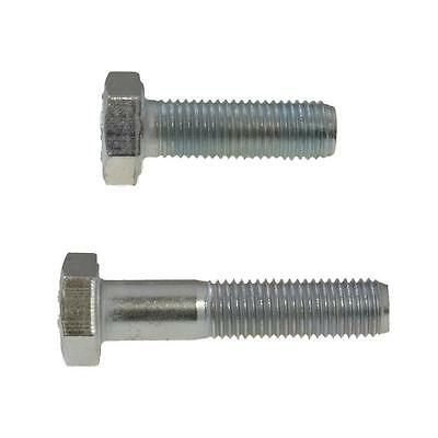 Hex Bolt M10 (10mm) x 1.25 Pitch Metric Fine Screw HT Class 8.8 Zinc Plated
