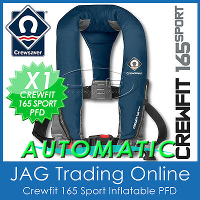 Automatic Crewsaver Crewfit 165 Sport Pfd Navy Blue- Auto Inflatable Life Jacket