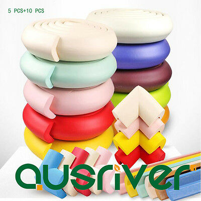 5 PCS Edge Protector+30 PCS Corner Protector Children Kid Rubber Foam Cushion