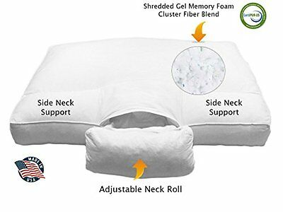 Best Cervical Orthopedic FULLY Adjustable Neck Support ANS Bed Sleeping Pillow w
