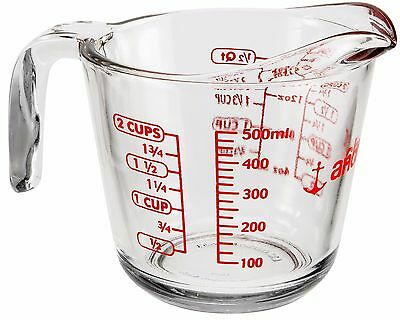 Anchor Hocking 500ml Glass Measuring Jug With Pint & Cups Measurements