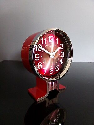 Rhythm clock alarm chrome réveil 80's vintage japan
