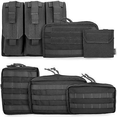 Bulldog Tactical Military Army Police Airsoft Modular MOLLE Pouches Pouch Black
