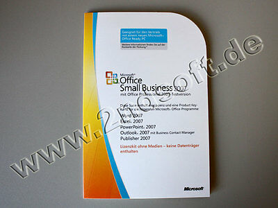 MS Office 2007 SBE/ Small Business Edition MLK, SKU: 9QA-01554, Word, Excel,…