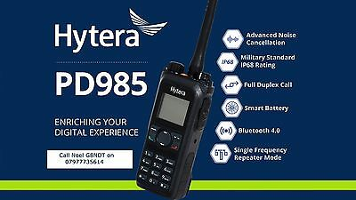 Hytera PD985 UHF or VHF DMR Handheld With PC38 Prog lead and CPS