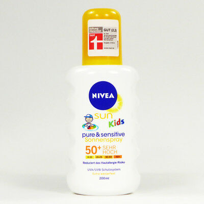4x200ml Nivea SUN Kids Pure & Sensitive Sonnenspray Sonnencreme LSF 50+
