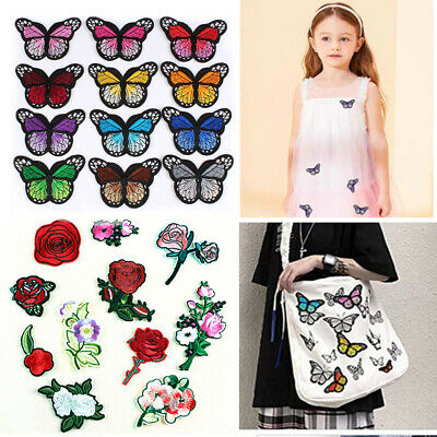 Set of Embroidery Sew Iron On Patch Badge Fabric Bag Clothes Applique Craft DIY