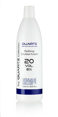 QUARTZ PEROXIDE OXYDANT CREME 6% 20 VOLUME 1 LITRE 1000ml AMAZING QUALITY