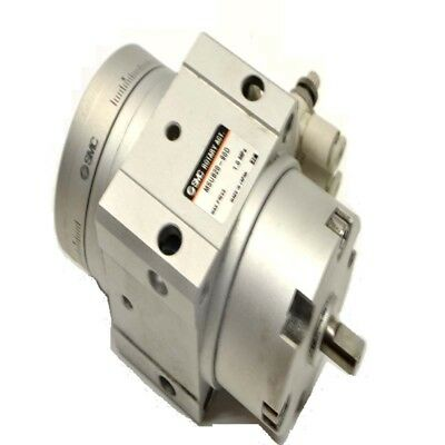 SMC MSUB20-90D Pneumatic Cylinder Double Vane Rotary Actuator w/Table