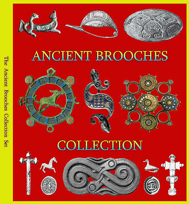 Ancient Brooches Book Collection - Celtic, Ironage, Roman, Saxon, Medieval