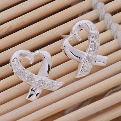 New Fashion Women Jewelry 925 Solid Silver Earrings Dangle Stud Gift Stamped