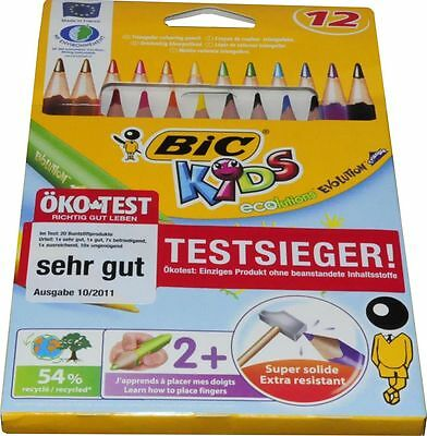 Bic Kids Dreikant Buntstifte 12 Stk. Ecolutions Evolution Triangle extra dick