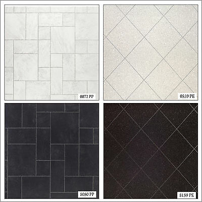 Tile Effect Anti Slip Lino Office Kitchen Bathroom High Quality Vinyl Flooring