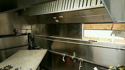 10 foot stainless steel exhaust hood with ansul system !!!!